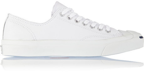 bbfda01fa976 COM › Converse › White Leather Low Top Sneakers Converse Jack Purcell  Leather Sneakers ...