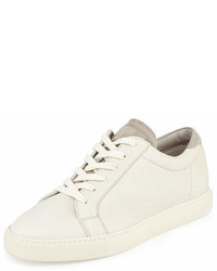 Brunello Cucinelli Leather Low Top Sneaker White