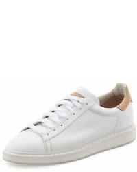 Brunello Cucinelli Leather Sneaker White