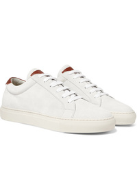 Brunello Cucinelli Leather Trimmed Suede Sneakers