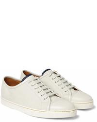 John Lobb Levah Cap Toe Brushed Leather Sneakers