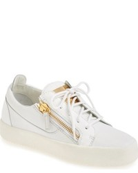 Giuseppe Zanotti May London Snake Embossed Low Top Sneaker