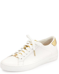 MICHAEL Michael Kors Michl Michl Kors Irving Leather Lace Up Sneaker Optic Whitepale Gold