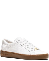 Michael Kors Michl Kors Breck Logo Embossed Leather Sneaker