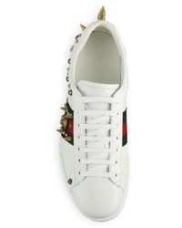 8f1a7e20f Gucci New Ace Punk Studs Low Top Leather Sneakers, $790 | Saks Fifth ...