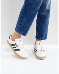adidas Originals White Gazelle Super Sneakers