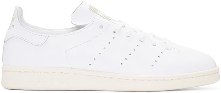 ... adidas Originals White Stan Smith Lea Sock Sneakers ...