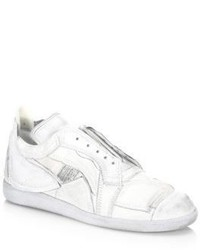 Maison Margiela Patch Leather Low Top Sneakers