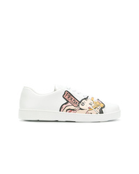 Prada Pin Up Motif Sneakers