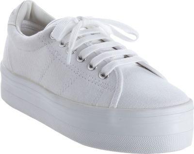 white platform gym shoes