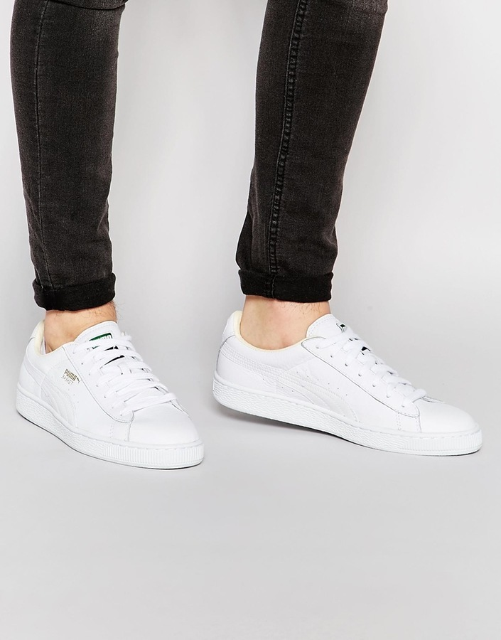 puma basket leather sneakers
