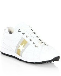 Jimmy Choo Rafi Star Leather Low Top Sneakers