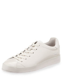 Rag & Bone Rb1 Spazzolato Low Top Sneaker With Leather Wrapped Sole
