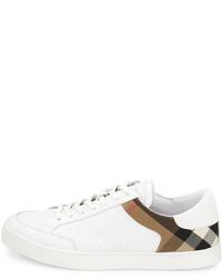 ... Burberry Rettford Leather Low Top Sneaker White 2ec20fa46