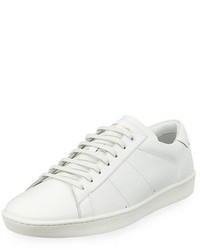 Saint Laurent Sl01 Leather Low Top Sneaker