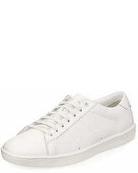 Saint Laurent Sl01 Leather Low Top Sneakers