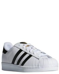 adidas Superstar Striped Leather Sneakers