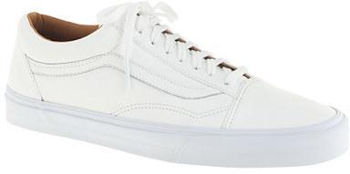 a207f8016fb502 ... Vans Unisex Old Skool Leather Sneakers ...