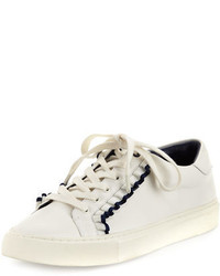 Tory Burch Ruffle Leather Low Top Sneaker