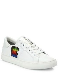 Marc Jacobs Empire Toast Leather Low Top Sneakers