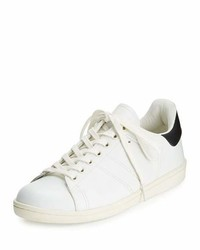 Isabel Marant Bart Leather Low Top Sneaker White