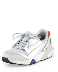 Puma Lace Disc Low Top Sneaker Star White Silver