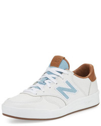 New Balance Leather Low Top Sneaker Whitetandenim