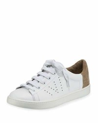Vince Varin Leather Low Top Sneaker Whitewoodsmoke