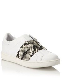 Vince Vista Lizard Print Laceless Leather Sneakers