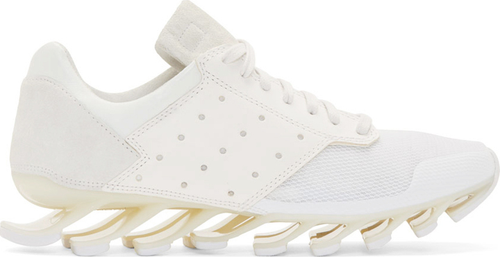 best website deb2e d7181 $890, Rick Owens White Adidas By Springblade Sneakers