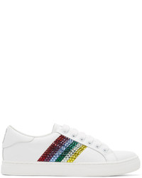 Marc Jacobs White And Multicolor Empire Strass Sneakers
