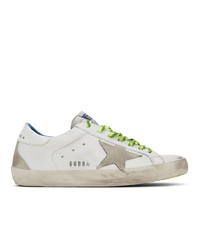 Golden Goose White Fluorescent Sneakers