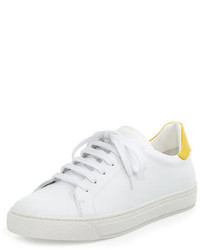 Anya Hindmarch Wink Napa Leather Low Top Sneaker Whiteyellow
