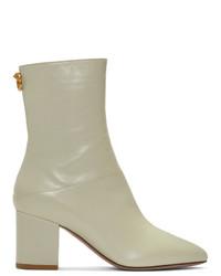 Valentino Off White Garavani Ringstud Boots