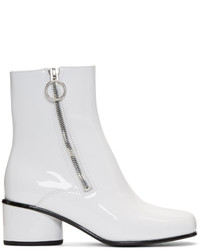 Marc Jacobs White Crawford Double Zip Boots