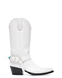 Calvin Klein 205W39nyc White Tex Tammy 50 Leather Boots