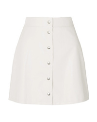 Sara Battaglia Faux Leather Mini Skirt