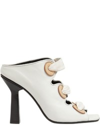 J.W.Anderson 100mm Leather Mule Sandal W Eyelets