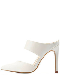 Charlotte Russe Anne Michelle Pointed Toe Mule Heels
