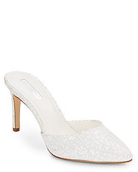 BCBGeneration Diamond Crackled Leather Mule Pumps