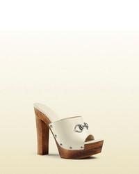 Gucci Morena Leather Clogs