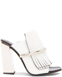 Proenza Schouler Leather Fringe Mules
