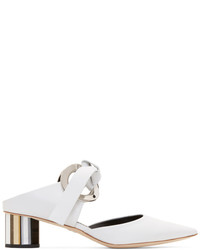 Proenza Schouler White Pointy Grommet Mules
