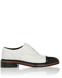 Lanvin Eel Skin Cap Toe Oxfords