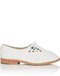 Hender Scheme Eyelet Embellished Leather Oxfords