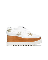 Stella McCartney White Elyse Stars 75 Platforms