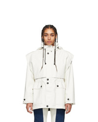 GR-Uniforma White Faux Leather Fireman Coat