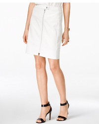 INC International Concepts Zip Front Faux Leather Skirt Only At Macys