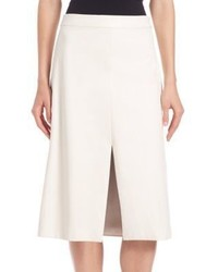 Tess Giberson Leather Slit Skirt