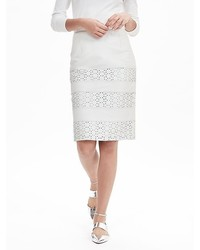 Banana Republic Limited Edition Laser Cut Leather Skirt